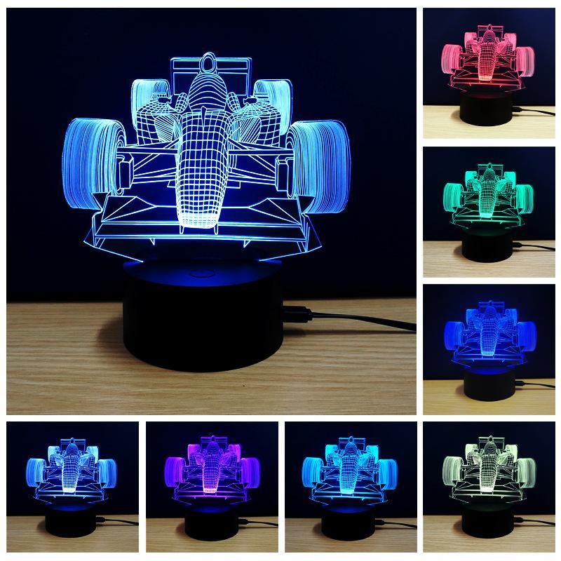 Usb Couleurs Lampe F1 Moto Cheval 3d Acrylique Avion Lumières Touch De Voiture Arbre Noël Control Veilleuse Football Led Cadeau Animal Tour 7 SMqpUzV