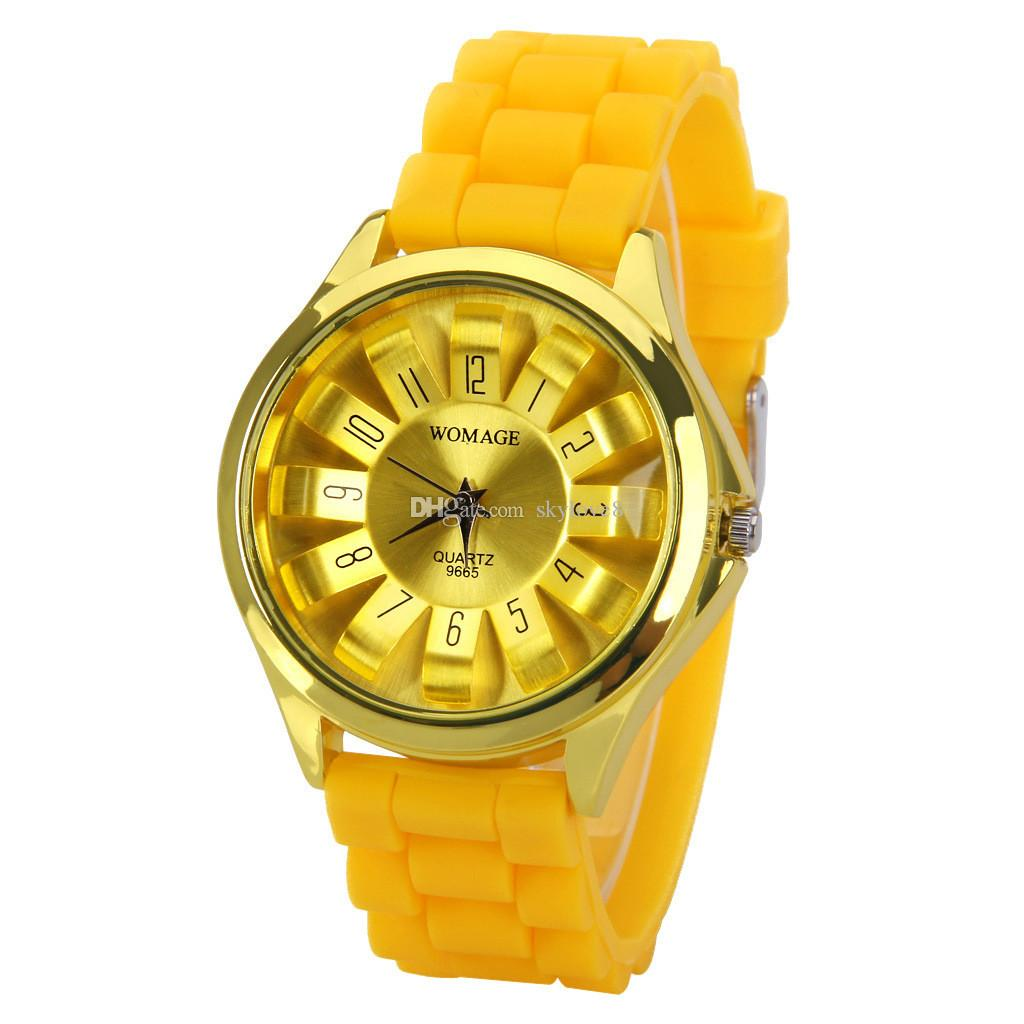 2019 Luxury WoMaGe Watch Chrysanthemum Shaped Watches For Women Mens Quartz Wristwatch Men Silicone Watch Students Sport watch