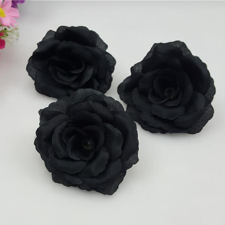 2018 wholesale 8cm black artificial rose silk flower heads 2018 wholesale 8cm black artificial rose silk flower heads decorative flowers for wedding party banquet decoration can mix from galry 1794 dhgate mightylinksfo