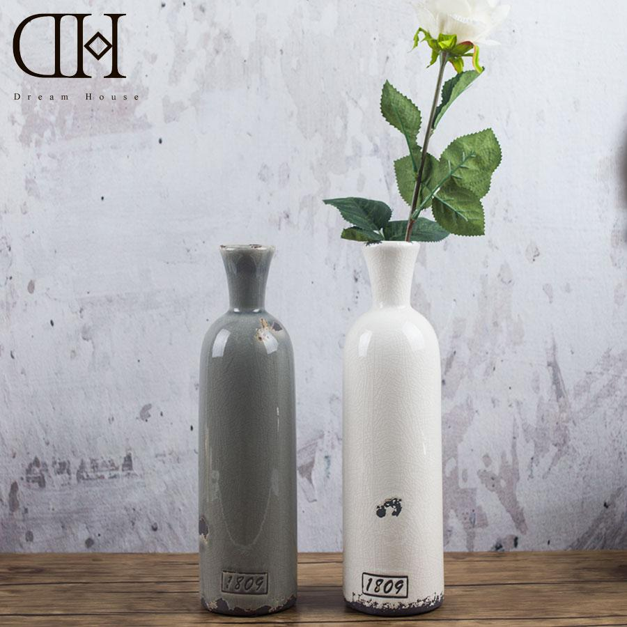 Dh porcelain ceramic table flower vases bottle vintage home dh porcelain ceramic table flower vases bottle vintage home decoration accessories for home display window wedding decoration glass vases for centerpieces reviewsmspy