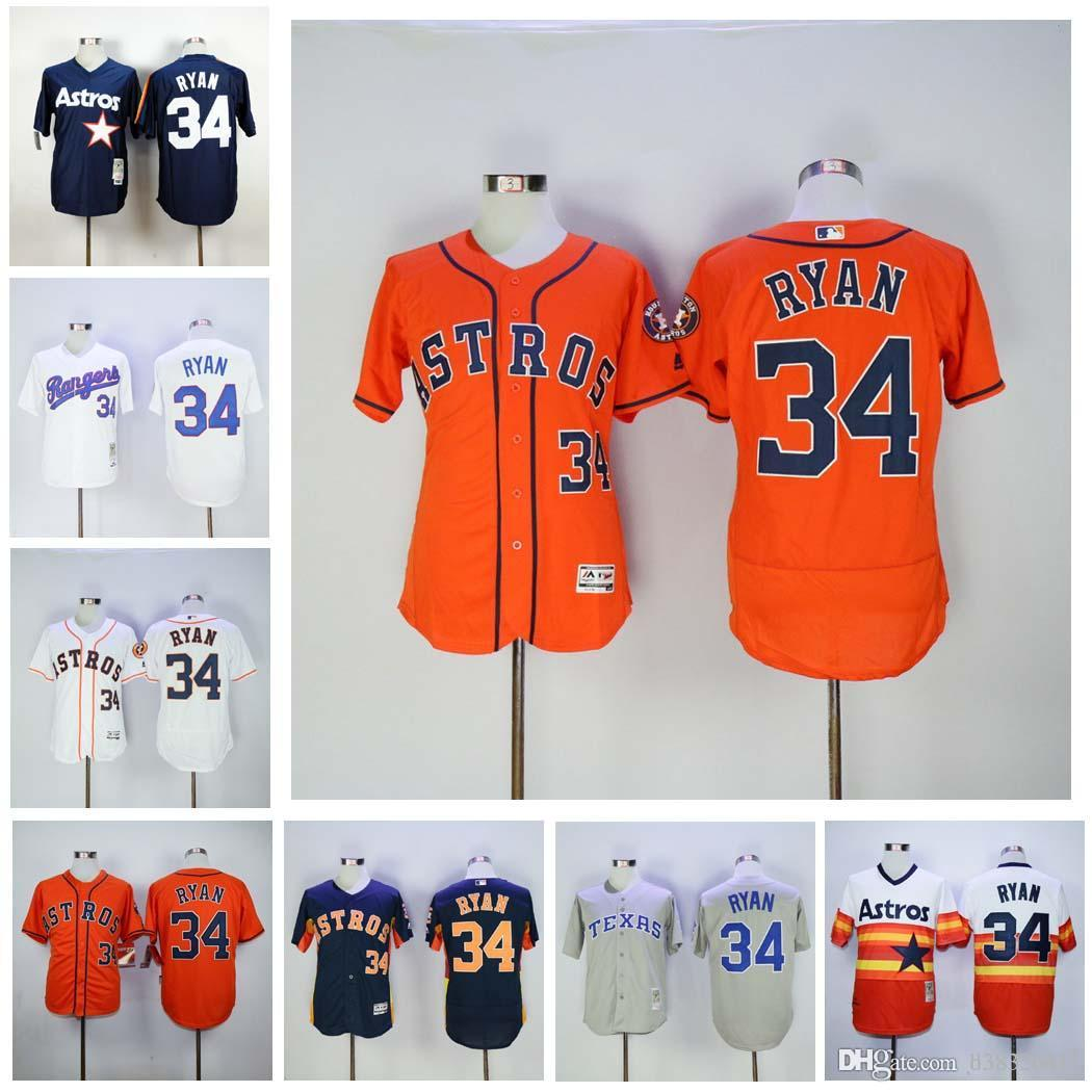 06d72ea78 ... low cost 2017 wholesale throwback 34 nolan ryan jersey houston astros  nolan ryan baseball jerseys flexbase