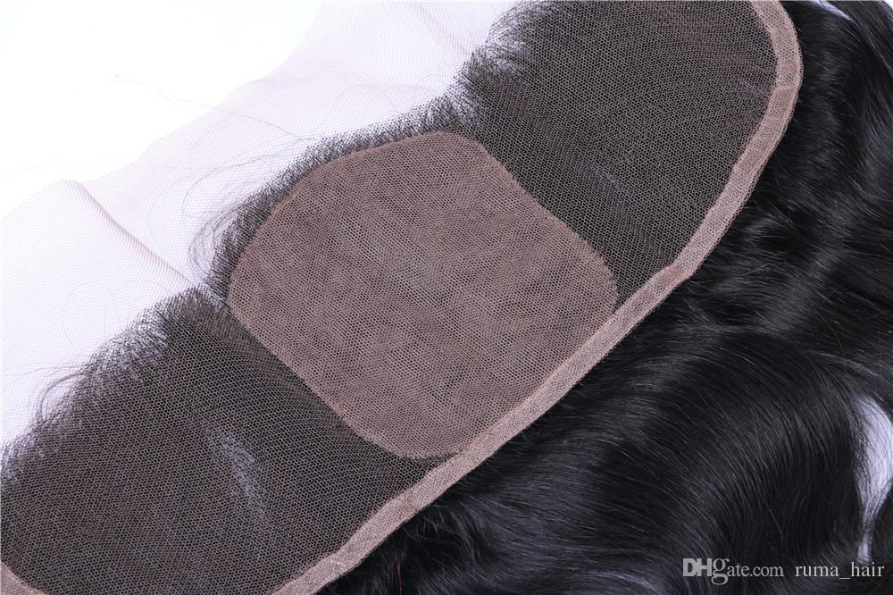 13*4 inch Ear To Ear Silk Base Lace Frontal Closure Body Wave 8A Brazilian Peruvian Indian Malaysian Virgin Human Hair With Baby Hair