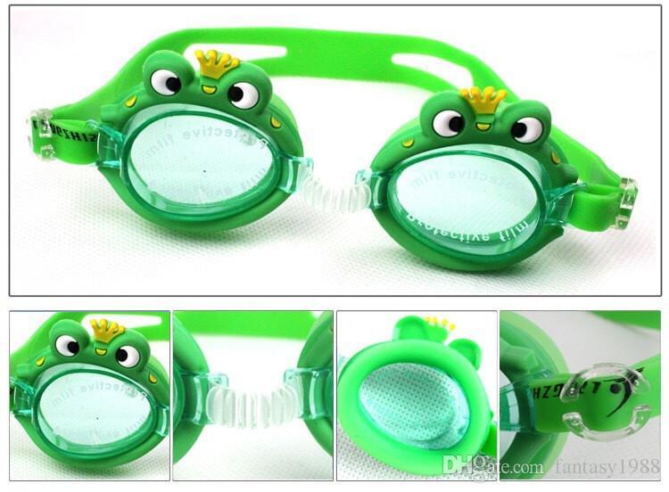 Водные виды спорта Антифог бассейн плавательные очки дети дети мальчики девочки дайвинг очки плавать очки силиконовые регулируемые красочные DHL / Fedex