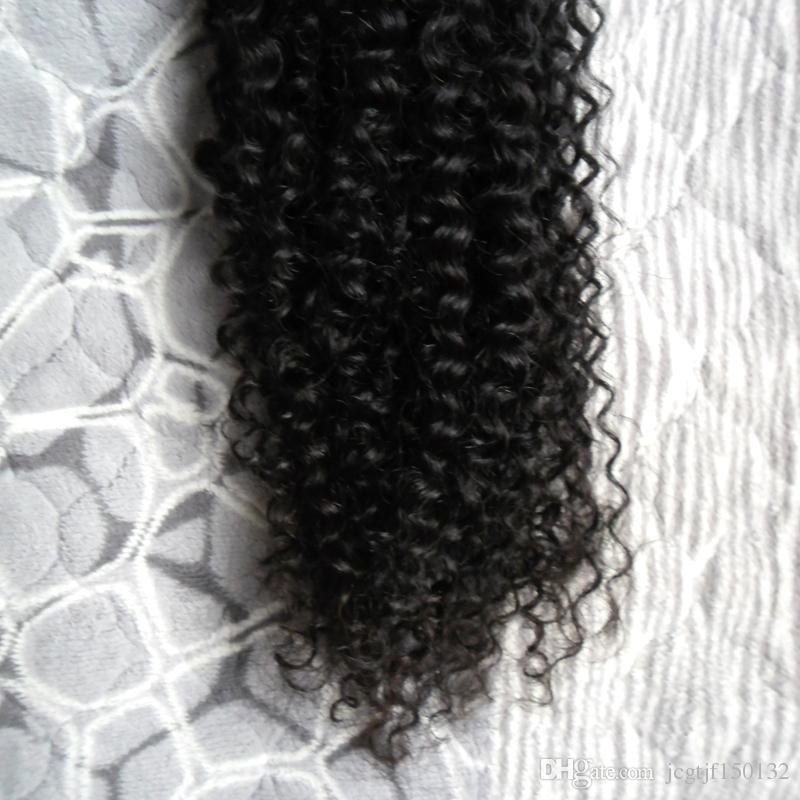 Плетение пучки черный человеческих волос девственница бразильские волосы плетение пучок 100 г Ивонна бразильский кудрявый вьющиеся волосы плетение пучки 1 шт.