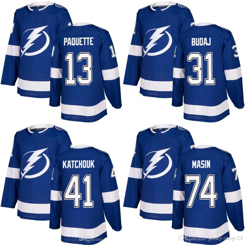 ... greece customized mens 2017 2018 tampa bay lightning 13 cedric paquette  31 peter budaj 41 boris ab465c1f9