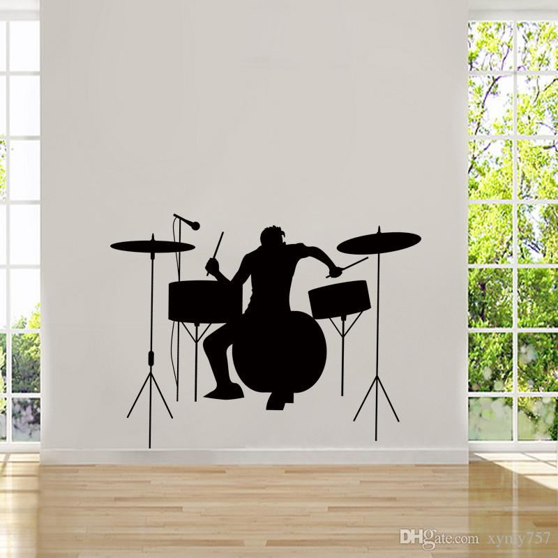 Cool Graphics Drummer Silhouette Rock Band Musicians Band Logos Art Wall  Sticker Music Art Decal Mural Diy Letter Wall Stickers Love Wall Decals  From ... Part 79