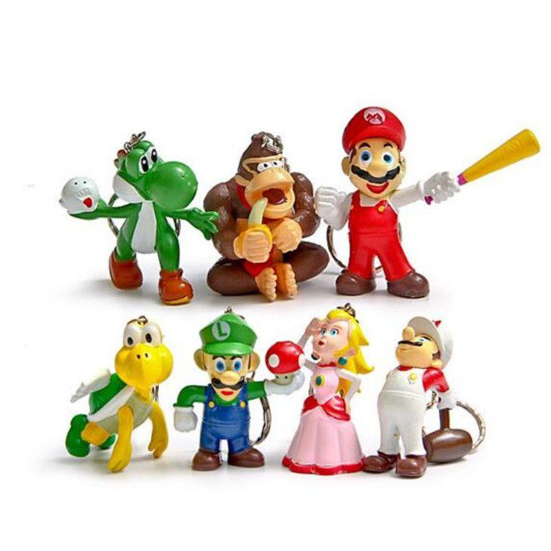 compre super mario bros brinquedos figuras de ação desenho animado