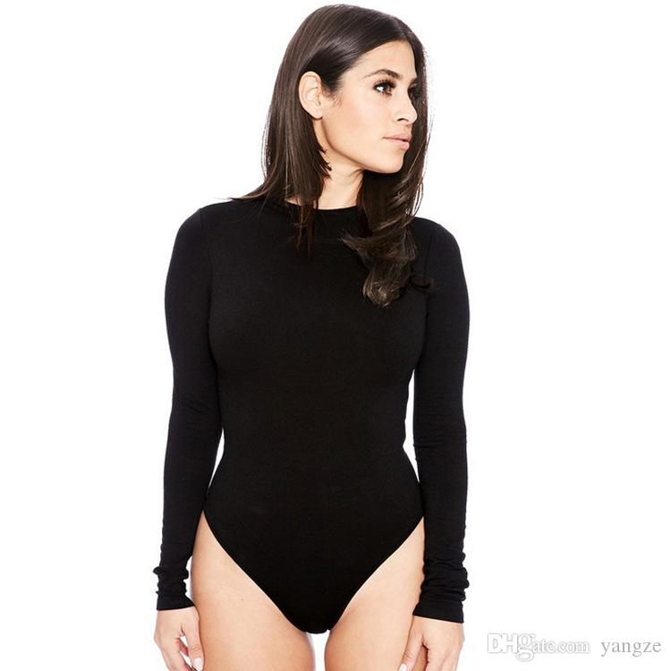 bc59006a7f369 Fashion Women Sexy One Piece Swimwear Long Sleeve Bodysuits  Jumpsuits Rompers S M L XL LN1230 Jumpsuits Swimwear One PIece Swimwear  Online with  10.77 Piece ...