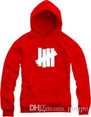 Toptan-Yenilmez Hoodies Yeni Hip Hop Marka Yenilmez Erkekler Kadınlar Pamuk Spor Tişörtü Dört Bar 8 Renk Yenilmez Ceket