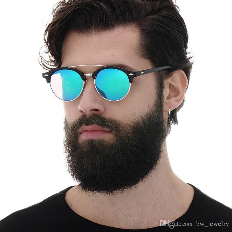 495dd15e0ca 2017 Polarized Sunglasses For Men Cool Seme Rimless Round Sun Glasses Hot  Rays Driving Eyewear Luxury Brand Flat Top Oculos Kids Sunglasses Locs  Sunglasses ...