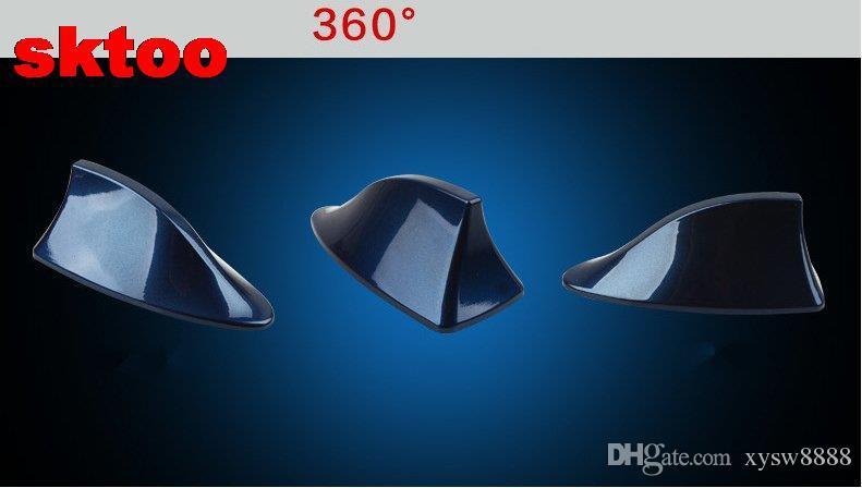 Shark fin car radio signal Antenna Aerials sticker 3M adhesive with AM/FM Signal Chip for Nissan qashqai Chevrolet Cruze
