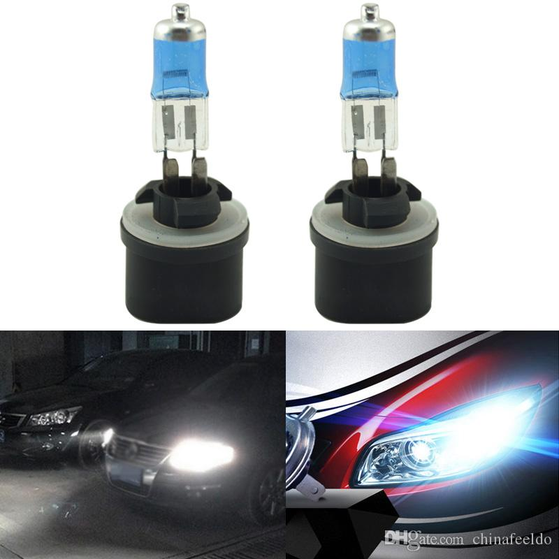 LEEWA White 880 27W Car Fog Lights Halogen Bulb Headlights Lamp Car Light Source Parking 5000K #2242
