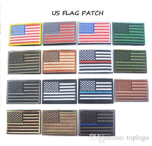 60 pz Tattico americano USA Thin linea blu forze dell'ordine Texas Lonely Star Marine Corps Usmc Nero Ops Bandiera Ricamata Patch