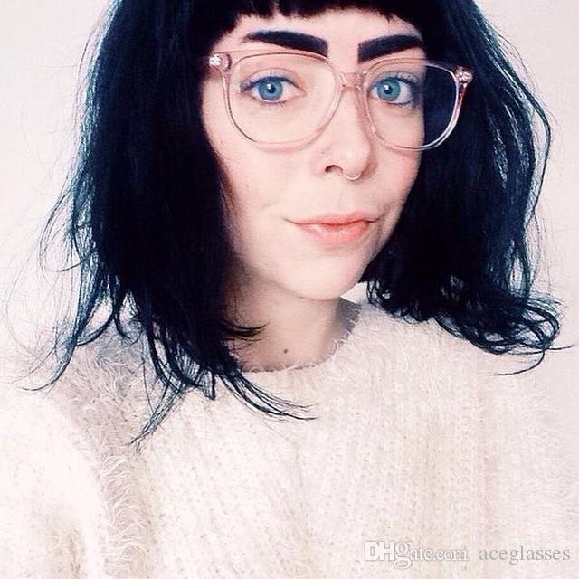 Ultra Light Square Women\'S Plastic Frames Acetate Glasses Eyeglasses ...