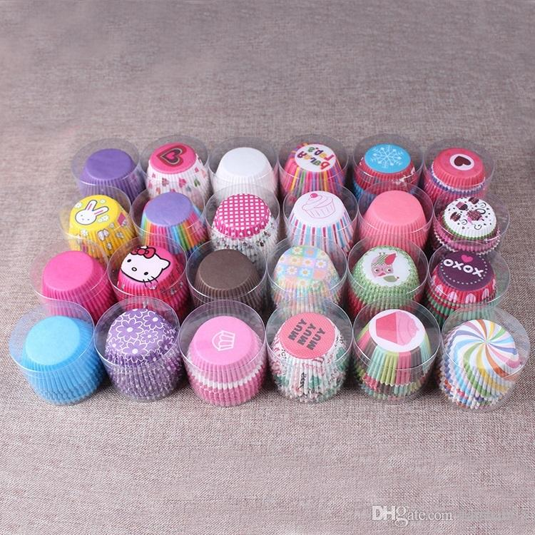 Cupcake Design Kitchen Accessories: Rainbow Cupcake Paper Liners Muffin Cases Cup Cake Baking