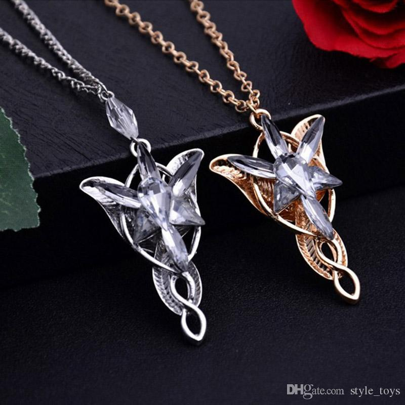 Wholesale hot sales lotr lord of the rings elf princess arwen wholesale hot sales lotr lord of the rings elf princess arwen evenstar pendants twilight elves princess silver plated pendant neck cosplay jewelry rose gold aloadofball Gallery