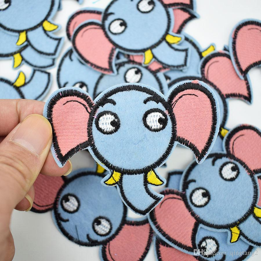 elephant embroidery patches for clothing iron patch for clothes applique sewing accessories stickers badge on cloth iron on patch DIY