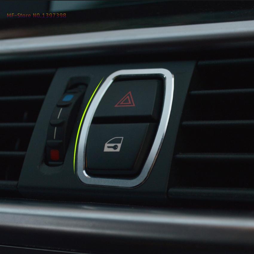 Metal Chrome Car Dashboard Dash Warning Lights Alert Push Button - Cool car dashboards