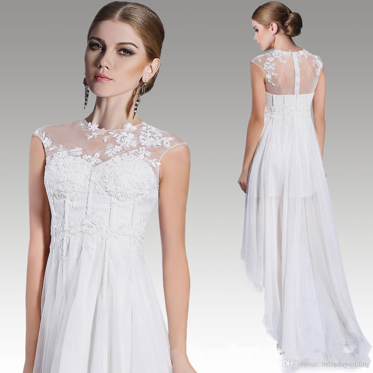 2016 White Dresses Evening Wear A Line Elegant Long Prom Dresses ...