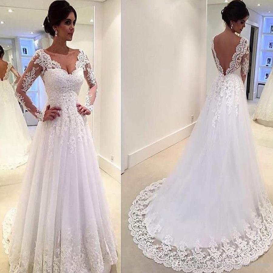 Vestidos de novia con escote y espalda descubierta