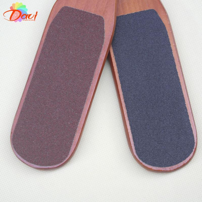 piedi di legno piedi raspa strumenti unghie 10 pz / lotto file di file di piede in legno rosso nail art nail kit Manicure