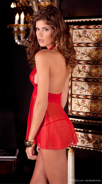 Mulheres Sexy Sleepwear Erotic Underwear Preto Perspectiva Gaze Virilha Aberta Tórax Tentação Terno Sexy Lingerie Babydoll yw-034