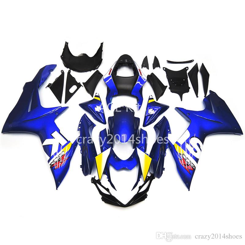5 cadeaux gratuits Nouveaux kits de carénage moto ABS 100% Fit pour SUZUKI GSXR600 GSXR750 K11 2011 2012 2013 2014 good nice blue
