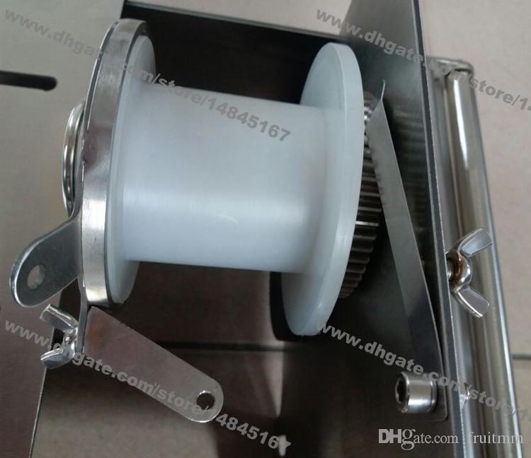 Livraison Gratuite 32mm 42mm En Acier Inoxydable Roulant À La Main Stuffer Saucisse Machine Saucisse Attachant Machine Saucisse Noueur Machine avec Ficelle