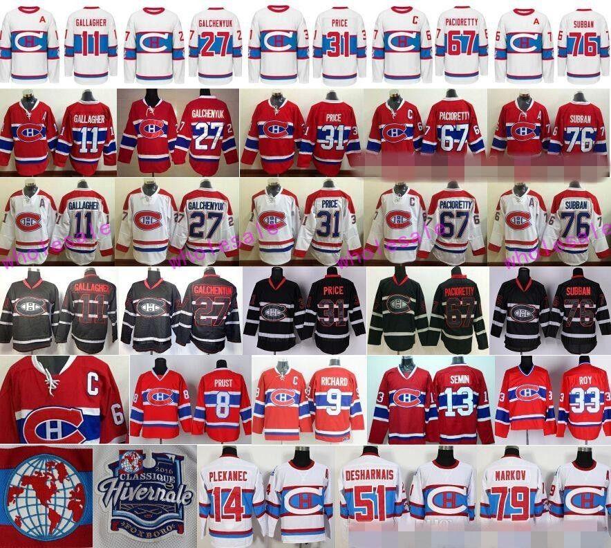 7e5ee20bc ... 2017 Montreal Canadiens Jerseys Ice Hockey Winter Classic 11 Brendan Gallagher  27 Alex Galchenyuk 31 Carey ...