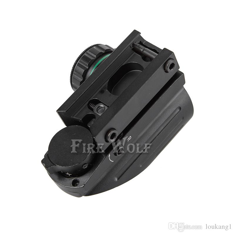 FIRE WOLF 4 reticolo Tactical Reflex Red / Green Laser olografico proiettato Dot Sight Scope fucile ad aria compressa Sight Caccia Rail Mount