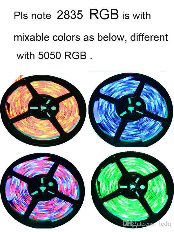 20 متر rgbw rgb wifi led فليكس قطاع عدة smd 5050 2835 ip65 للماء تيراس روبان + الموسيقى وقت وضع تحكم + 12 فولت امدادات الطاقة محول ce