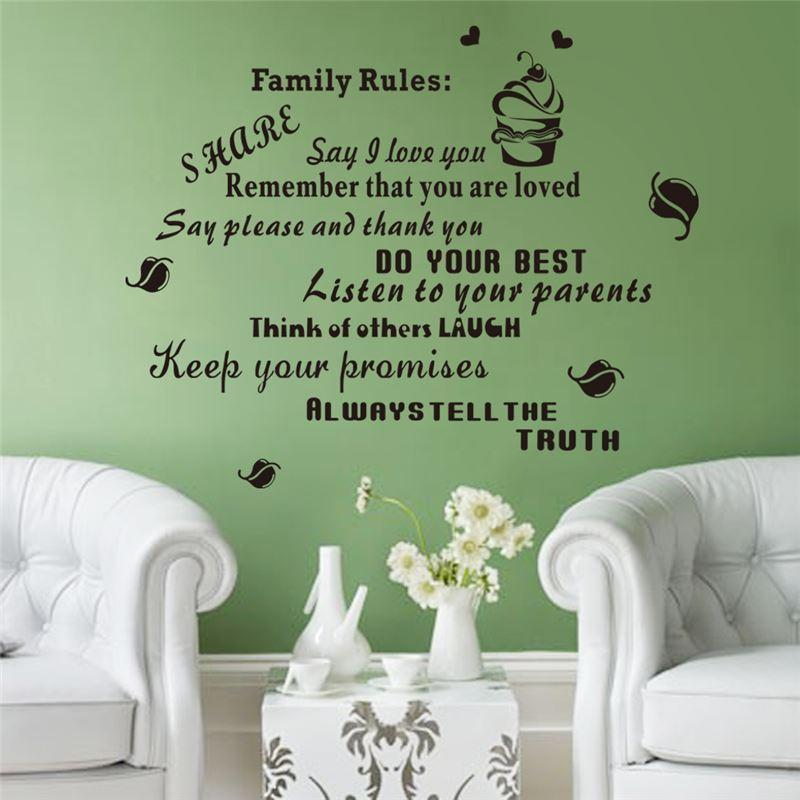 Family Rules Wall Art family rules keep your promises vinyl quotes wall decals for