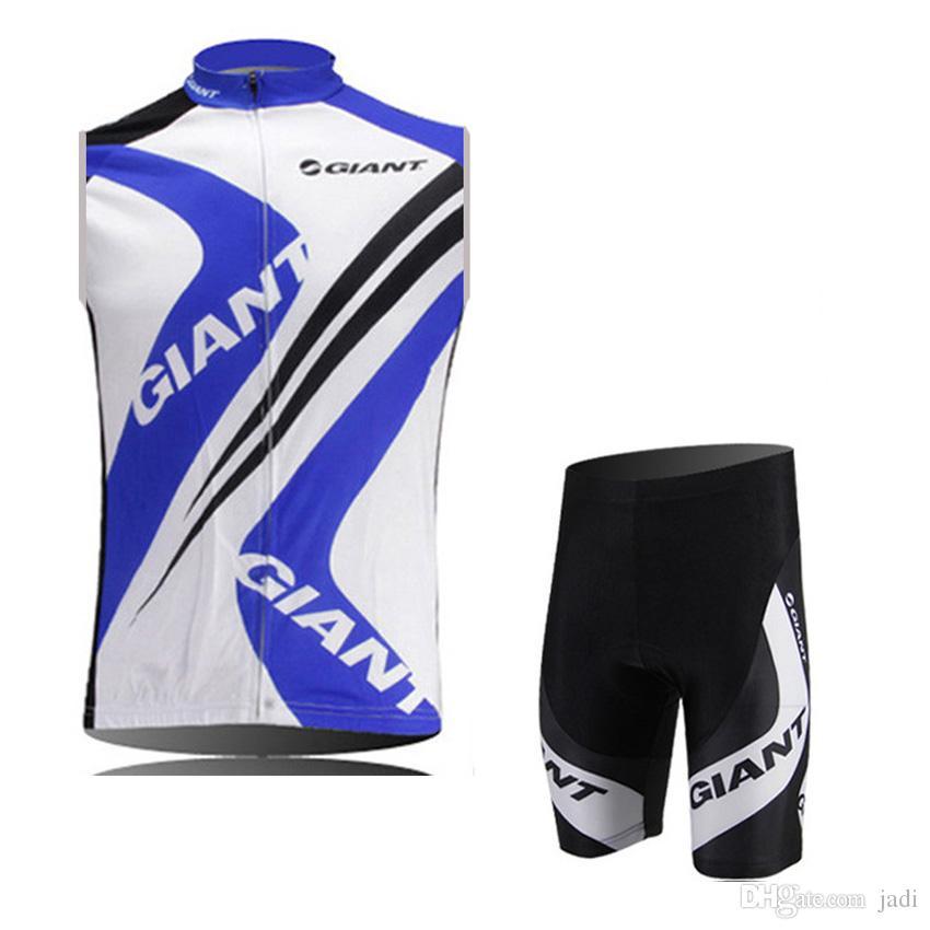 Hot 2017 summer giant cycling Sleeveless Jersey Shirt cycling Bib Shorts ciclismo maillot Cycling vest bike Sportwears Lycra shorts