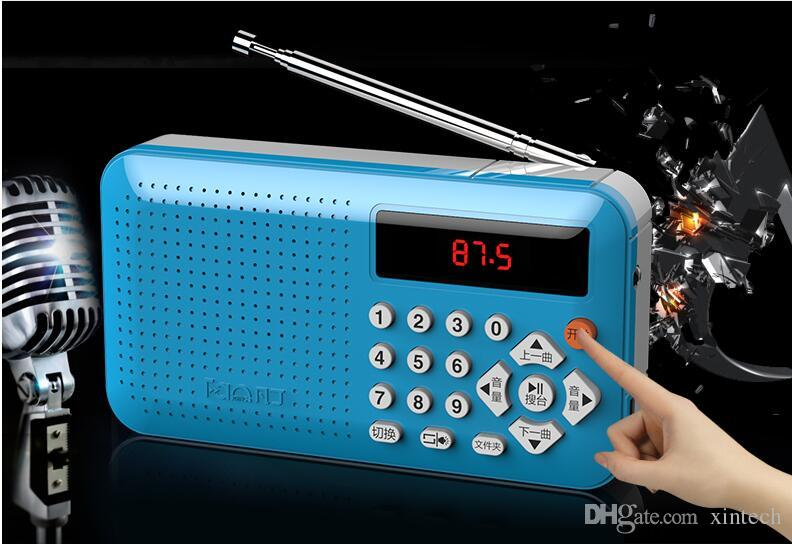 New Brand Mini Portable Dual Band Rechargeable Digital LED Display Panel Stereo FM Radio Speaker USB TF Mirco for SD Card MP3 Music Player