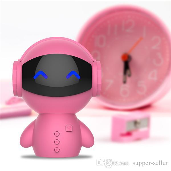 Newest DingDang Cute M10 portable Robot Bluetooth Speaker Stereo Handsfree with power bank AUX TF MP3 Music Player Free DHL