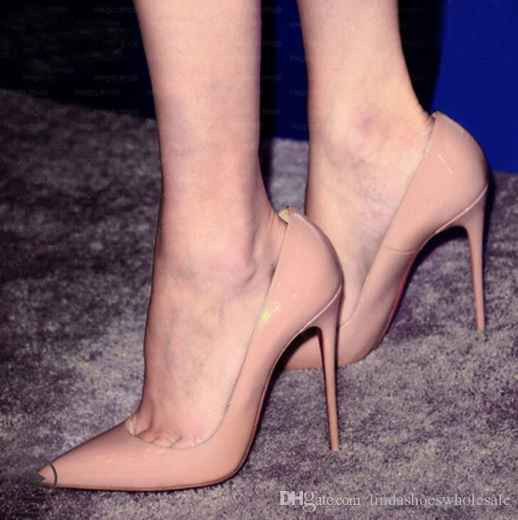 0ccef3e33af20 Moda Apontou Toe De Couro Mulheres Bombas de Salto Alto Fino Stilettos  Senhora Do Escritório Sapatos femininos festa de dança mulheres sapatos de  casamento ...