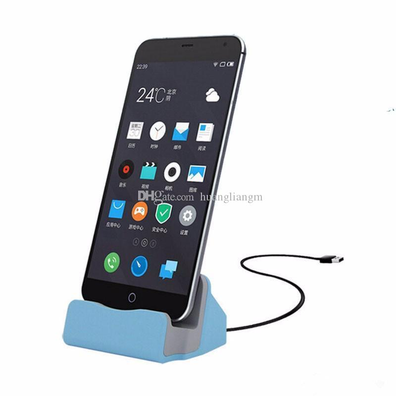 Quick Charger Docking Stand Station Cradle Charging Sync Dock With Retail Box For Type-c iPhone 6 7 Plus For Samsung S6 S7 S8 edge Note 5