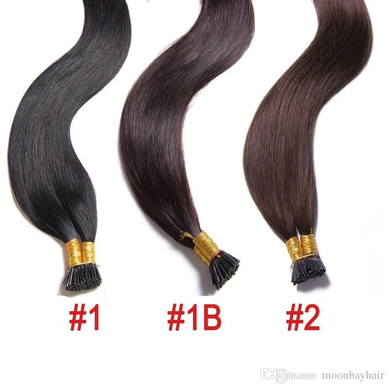 100g 10 26 Dark Color Indian Hair Stick Pre Bonded I Tip Human Hair