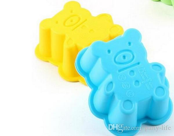 Silicone Cupcake Cases Bear Shaped Cake Baking Molds Cup Set Kitchen Craft Tool Bakeware Pastry Tools Cake Mold