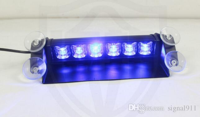 High intensity DC12/24V 6W Led car Windshield dash lights,Visor warning lights,power by cigarette lighter