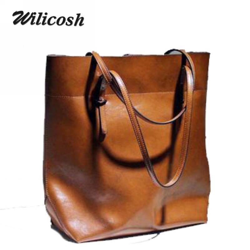 ad5fc51083 Wholesale 2016 New Design Fashionable Ccowhide Leather Women Messenger Bags  Oil Waxing Women Leather Handbags Women S Shoulder Bags DB4705 Rosetti  Handbags ...