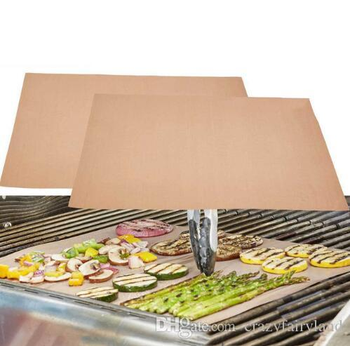 Best Copper Grill Mat Reusable No Stick Bbq Grill Mat