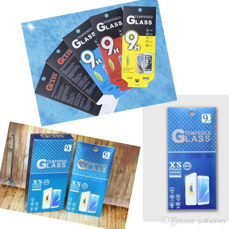 jcd Tempered Glass screen protectors for iphone7/8 plus 6s note7 Premium Real Film Screen Protector with paper package