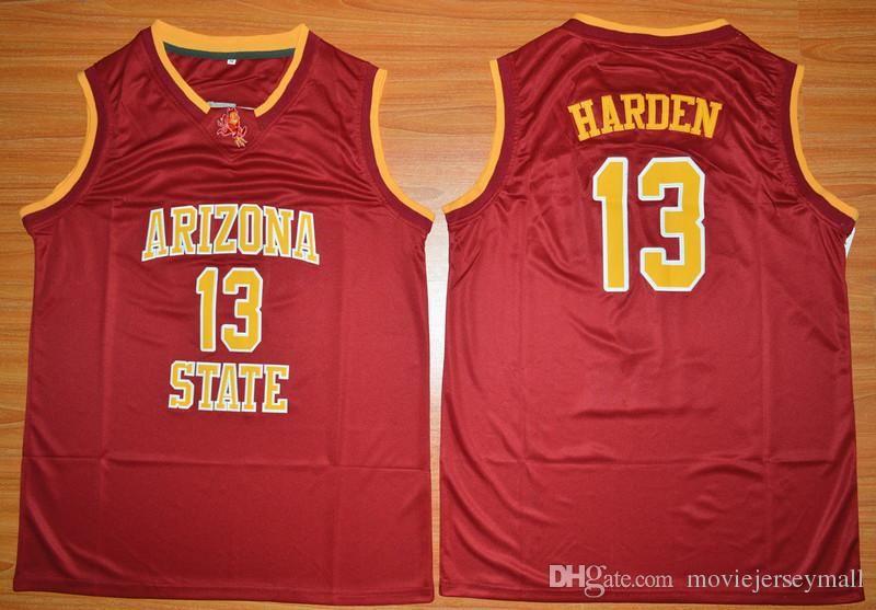 NCAA Arizona State James Harden College Jerseys 13 University Yellow ... dd18a597f