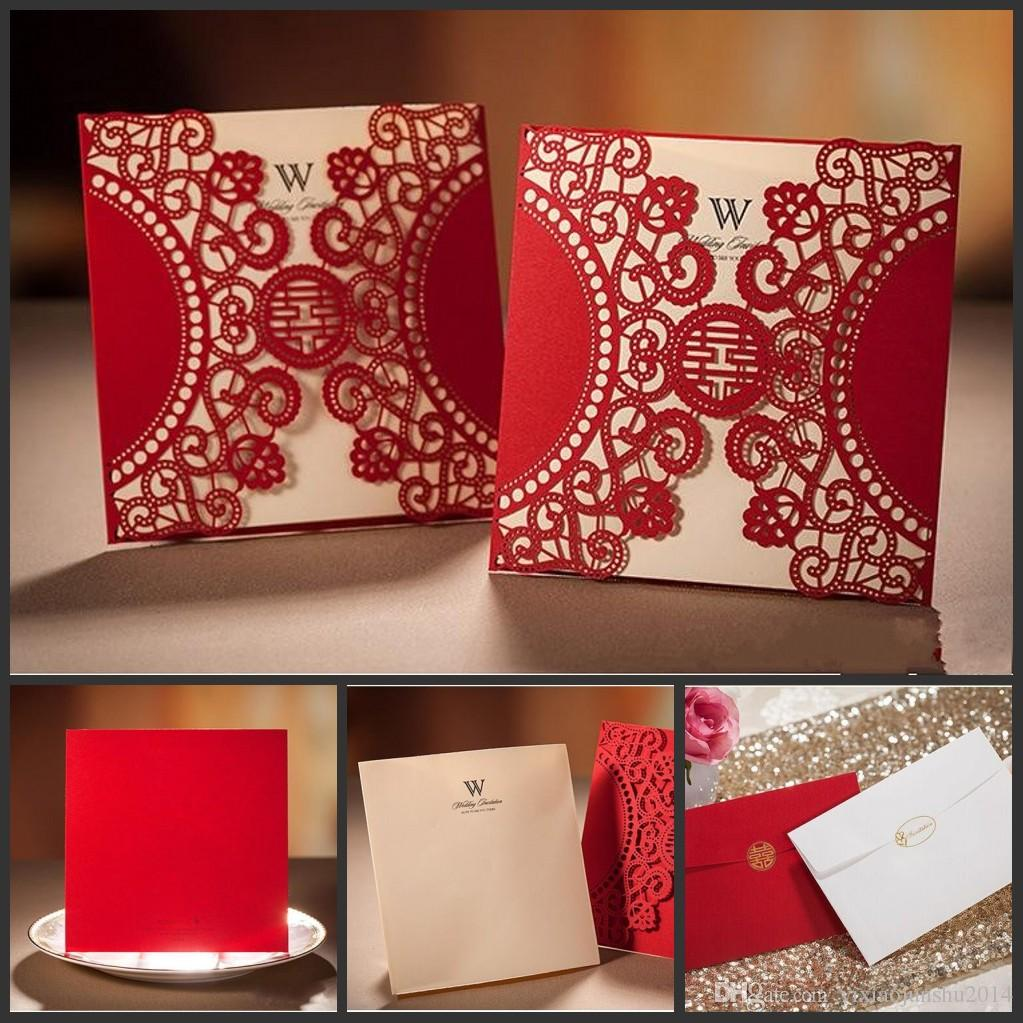 Personalized Laser Cut Invitations Wedding Invitations Card Hollow ...