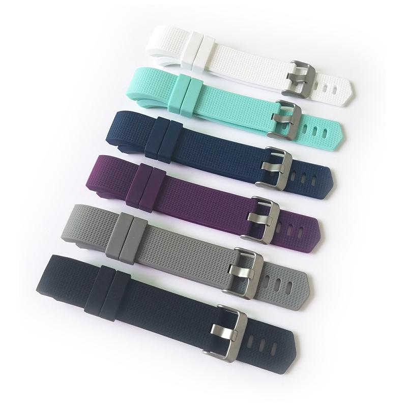 Factory Offer Fitbit Charge 2 Buckled Soft Sport Classic Silicone Strap For Fitbit Charge 2 Replacement Wristband Mix Color Big Order