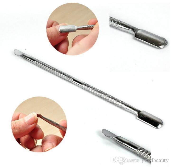 Stainless Steel Portable Nail Tools Cuticle Pusher Manicure Pedicure ...