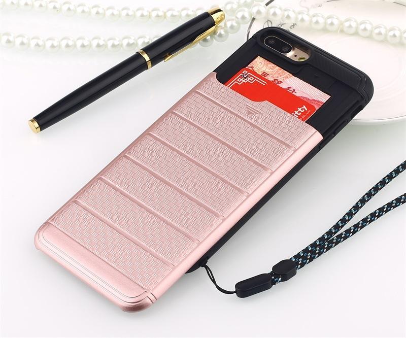 Casos de teléfono celular para el iPhone 7 Plus 6 6S y caja de tarjeta de Samsung S5 S6 anti-caída King Kong cubierta de silicona TPU + PC