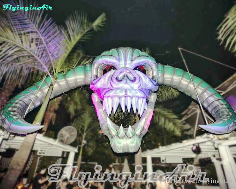 7m Halloween Decorative Skull Inflatable Skull Air Blown Death Head for Concert Stage and Party