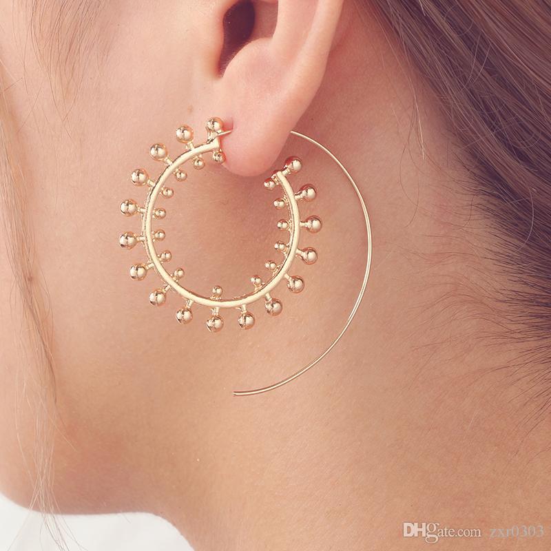 Tribal Indian Spiral Drop hoop Earring Charming Jewelry Dangle women Earring  Piercing Style for Women Jewelry gifts 2d32788f02dc